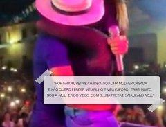 Cantor Tulio Milionário  beija mulher casada em show e ela pede para apagar vídeo