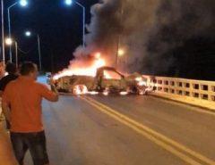 Grupo explode agência bancária no Sertão paraibano e coloca fogo em carro