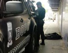 Bope retira artefato explosivo no Centro de Macaíba.