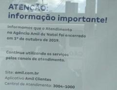 Pegos de Surpresa: Amil fecha escritório em Natal, encerra atividades administrativas, mas plano segue ativo para todos os usuários