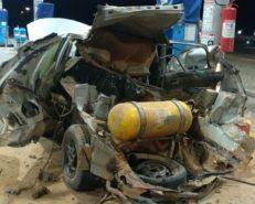 Em Assu, carro explode quando era abastecido com GNV