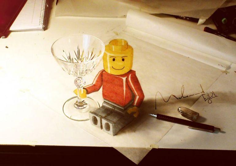 contoh gambar 3 dimensi lego