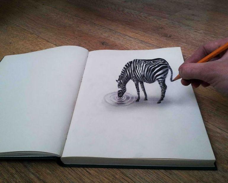 contoh gambar 3 dimensi zebra