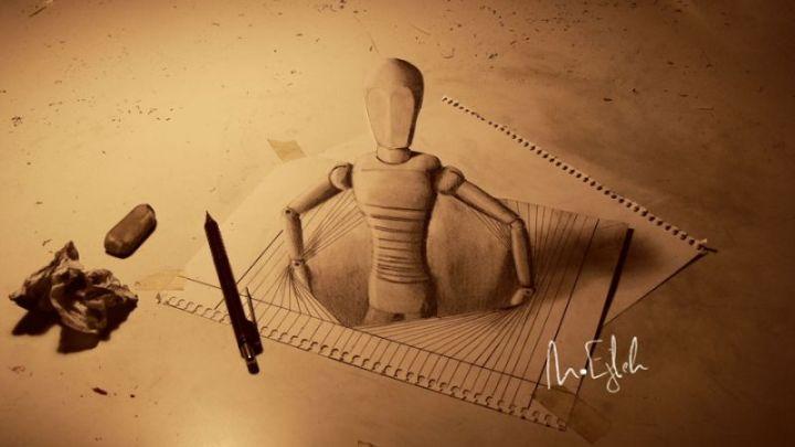 contoh gambar 3 dimensi boneka kayu