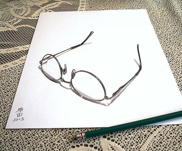 contoh gambar 3 dimensi kacamata