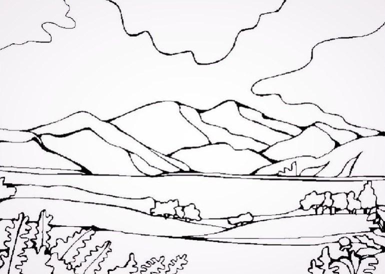 Mewarnai gambar Gunung