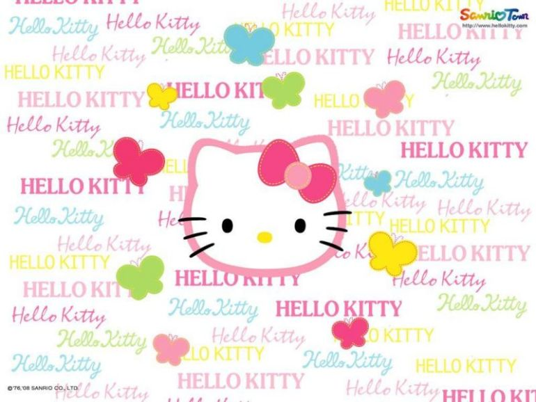 Background Hello Kitty lucu