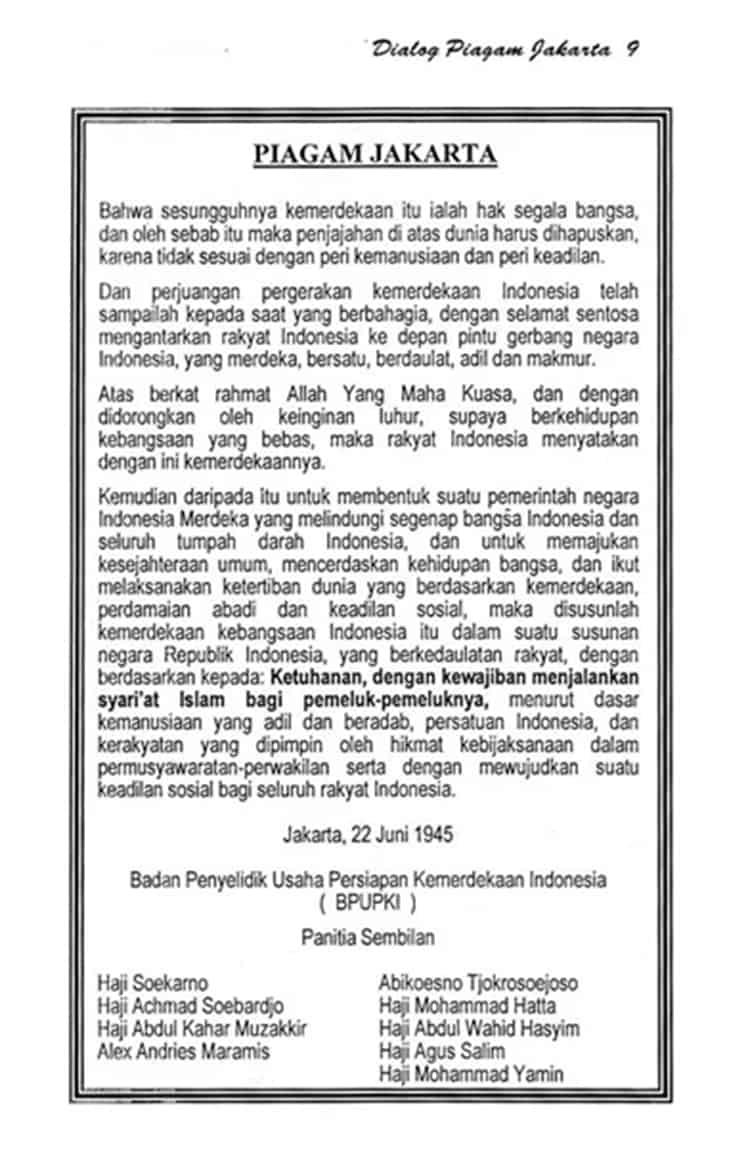 Bunyi Sila Pertama Piagam Jakarta : bunyi, pertama, piagam, jakarta, Beginilah, Sejarah, Pancasila, Sebagai, Dasar, Negara, Indonesia