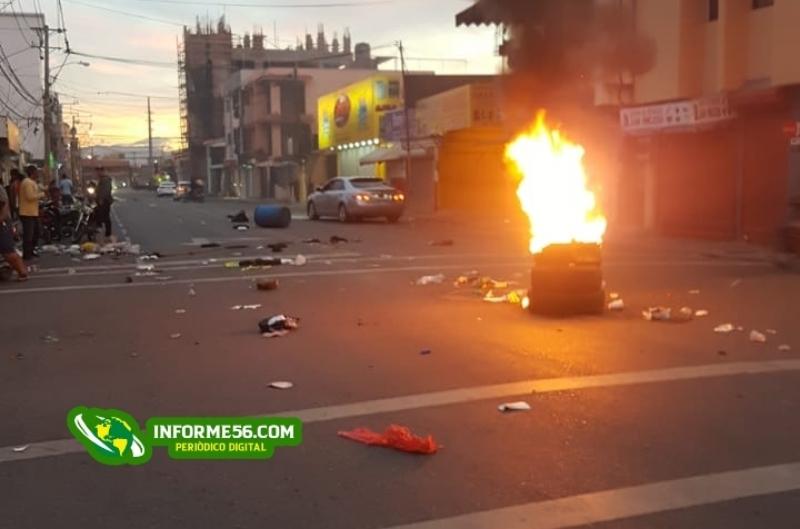 """Fotos: Se """"prende"""" la avenida Bienvenido Fuertes Duarte – Informe56"""