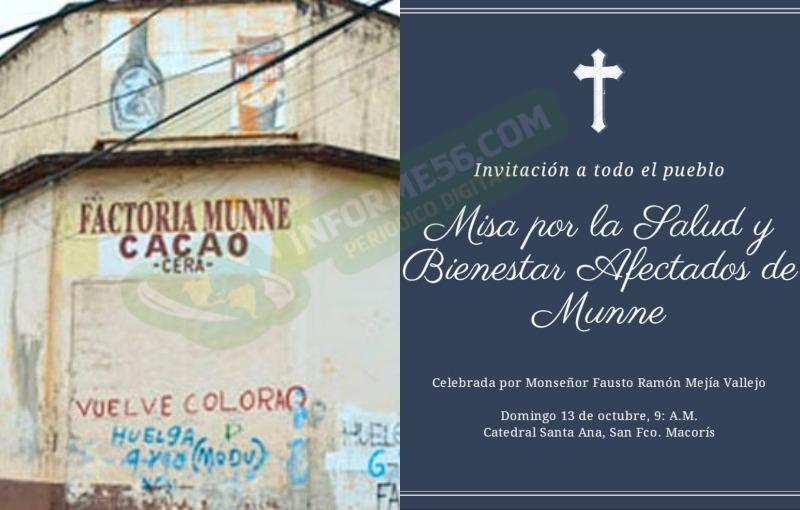 Invitan a misa por la salud y bienestar de los afectados de Munné –