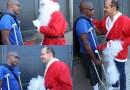 Video: Ramfis sale a las calles vestido de Santa Claus