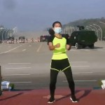 Video: Instructora de aerobics se hace viral durante el golpe de Estado en Birmania