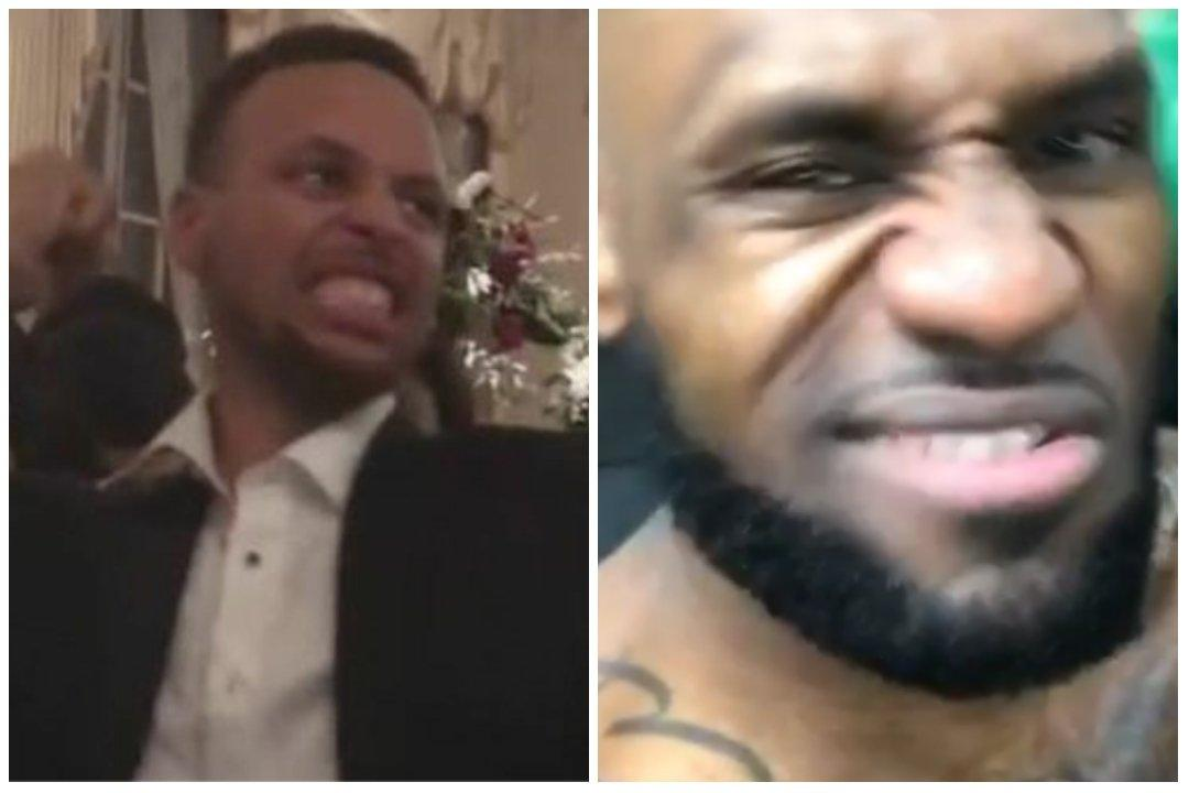 Steph Curry mocks LeBron James
