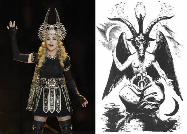 Resultado de imagen de Madonna, imitando a Baphomet