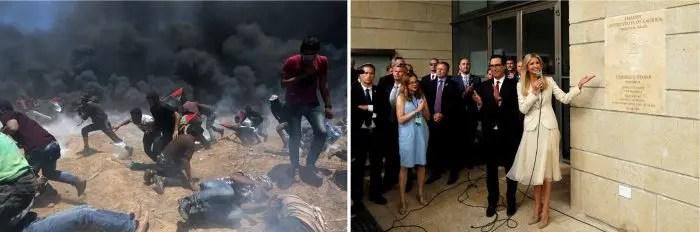 Dhuna në Gaza, Festimi i Ambasadës në Jerusalem…
