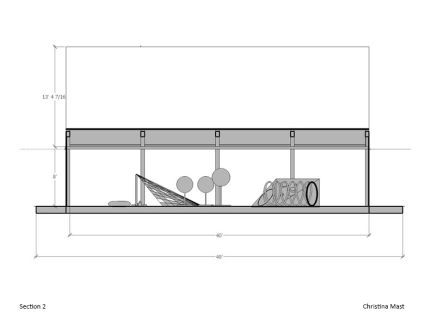 Mast_Sketchup_Long Section