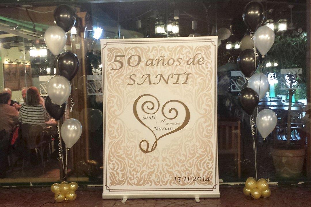 decoracion 50 cumpleaños hipódromo santander