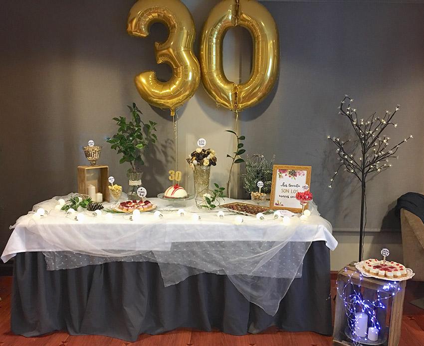decoracion 30 cumpleaños