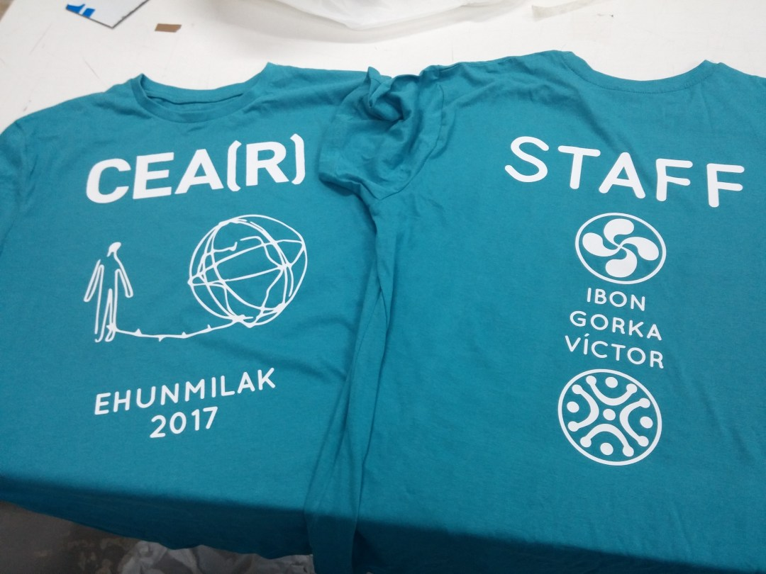 Estampación de camisetas personalizadas vinilo textil santander