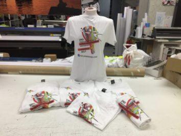 camisetas blancas serigrafia digital todo color mundial palas santander