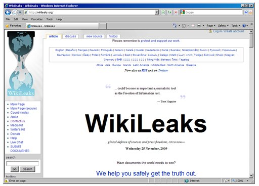Wikileaks, Public Domain and the Internet | Inforrm's Blog