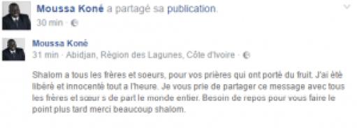 Le pasteur Moussa Koné, emprisonné en Côte d'Ivoire, a finalement été libéré