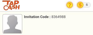 Invitation code untuk Tap Cash