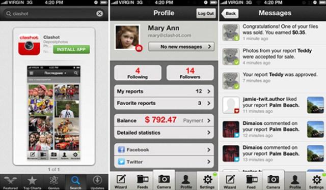 Buat duit melalui aplikasi telefon clashot