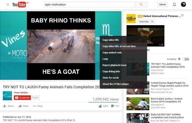 cara memainkan youtube pada masa spesifik