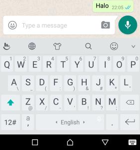 ruangan menaip mesej whatsapp