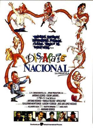 Cartel de Disparate Nacional (Mariano Ozores, 1990), dibujado por Gallego y Rey