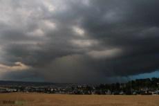 Pluie intense sous la supercellule.