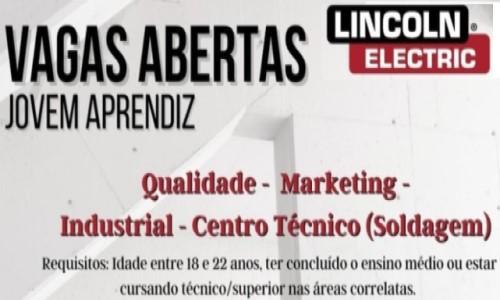 Vagas Abertas Jovem Aprendiz Lincoln Electric