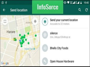 WhatsApp live location sharing features