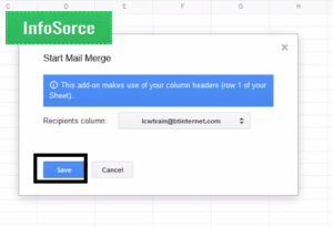 Click on mail merge to send bulk email from gmail