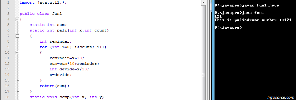 Palindrome Number In Java Using For Loop Working 100