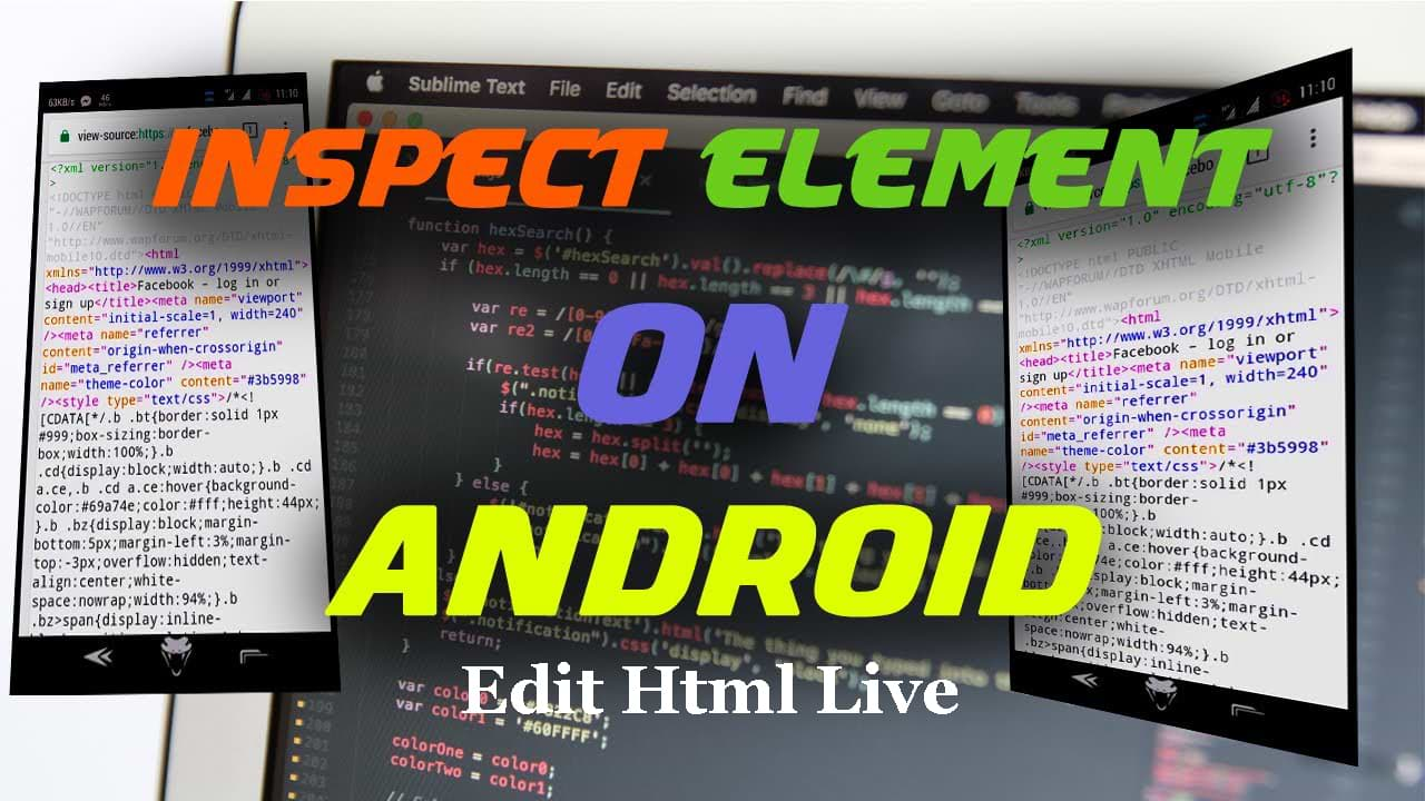How To Inspect Element On Android app