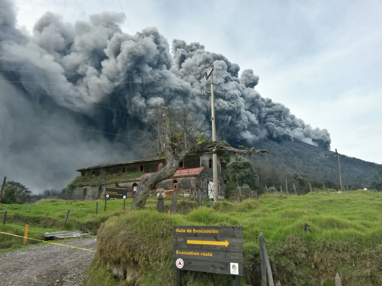 Volcanic Eruption Costa Rica Turrialba