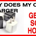 cell phone charger gets hot