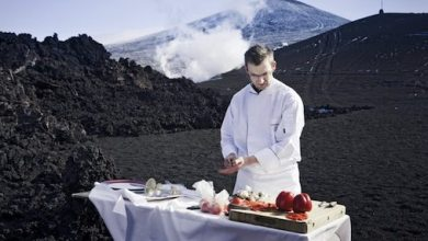 Photo of Chef Cooks BBQ on Volcano