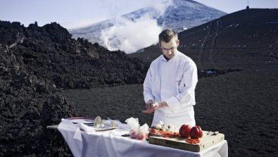 Photo of Chef Cooks BBQ on Volcano