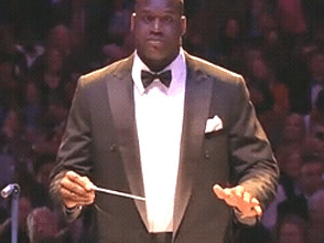 Photo of Shaq Conducts Boston Pops