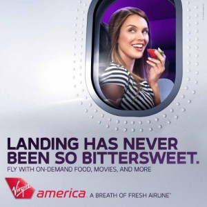 Virgin America Launches 'Breath of Fresh Airline' Campaign  1