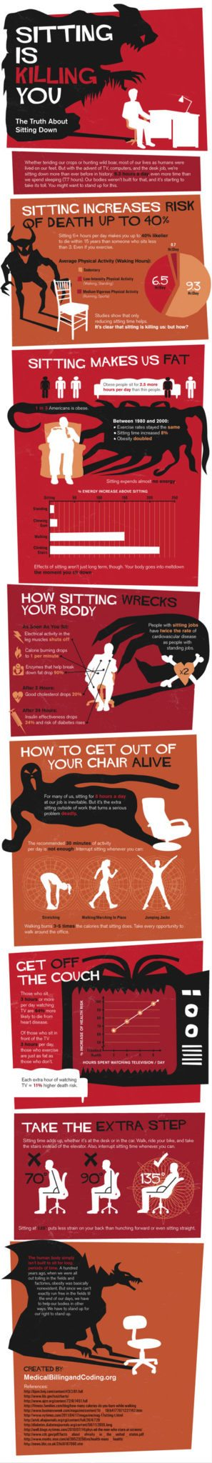 Too Much Sitting is Real Bad [infographic] 1