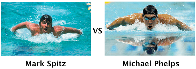 Mark Spitz vs Michael Phelps