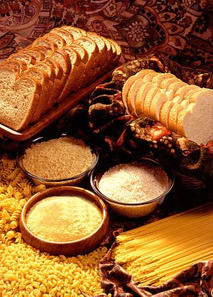 Grain products are often baked, and are rich s...