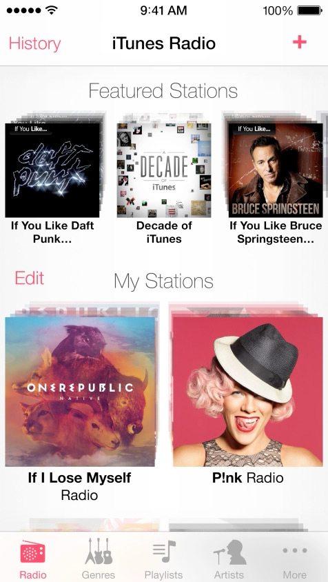 iTunes Radio in iOS 7