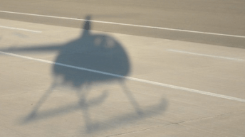 Shadow of a helicoptering parent