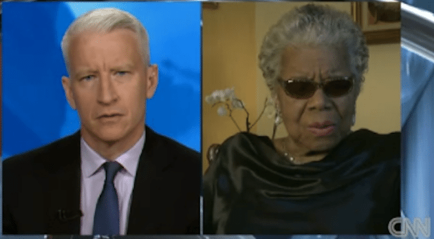 Photo of Anderson Cooper Interviews Dr. Maya Angelou – #MOW50