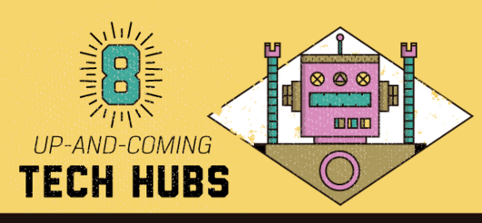 Up-and-Coming Tech Hubs [Infographic] 1